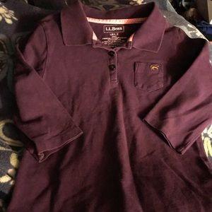 LL Bean Purple Polo Shirt